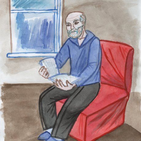 Як намалювати діда
