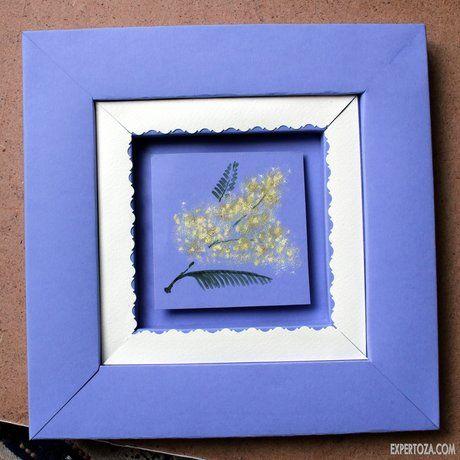 Як зробити красиву рамку з паперу, для оформлення малюнка або вишивки