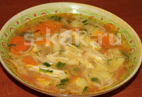 Курячий суп. Рецепт. фото 6
